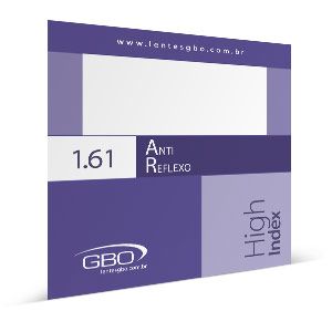 Lente Anti-reflexo GBO HI-INDEX 1.61
