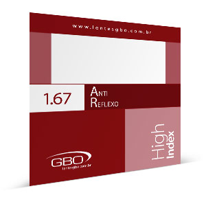 Lente Anti-reflexo GBO HI-INDEX 1.67