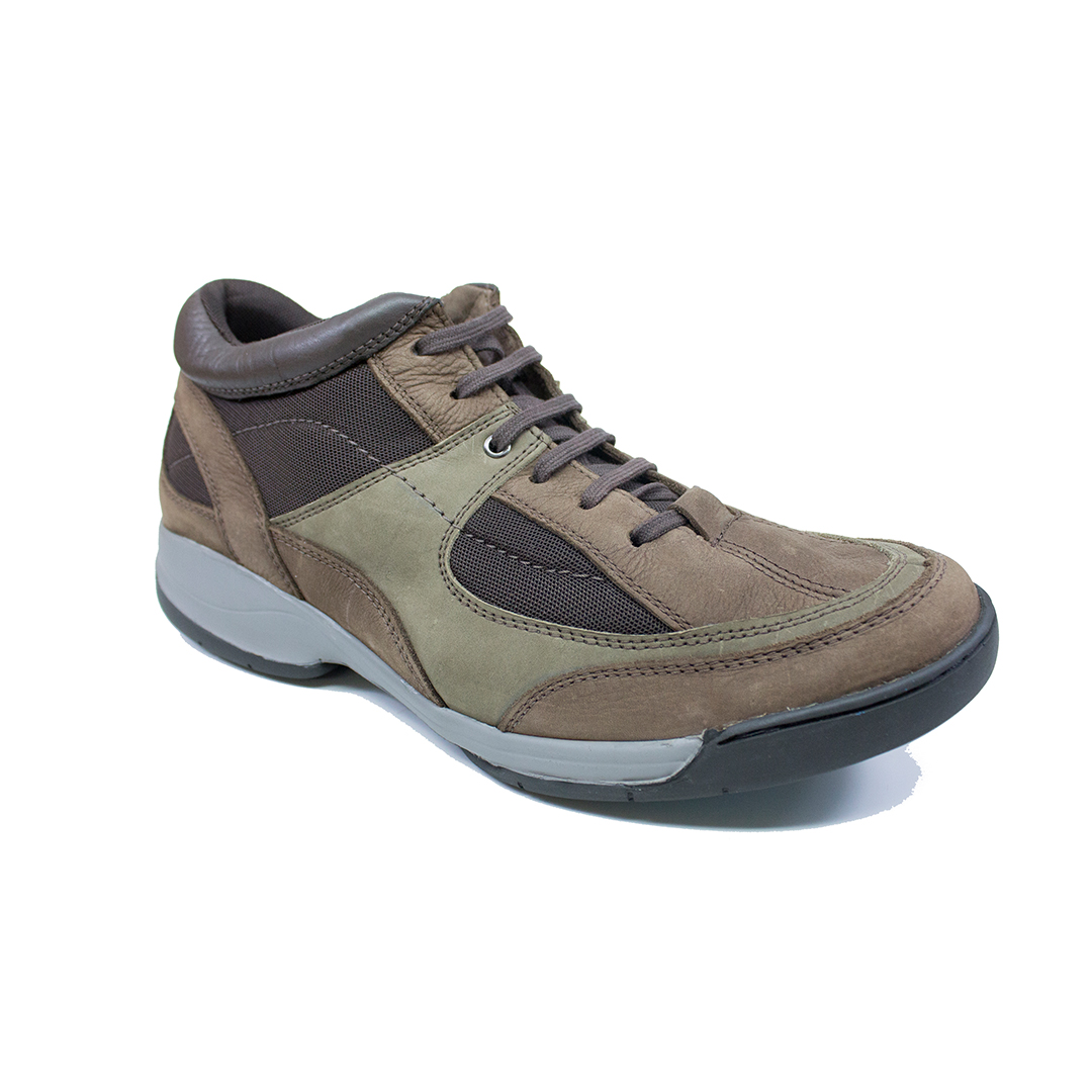 Bota Anatomic Gel Tech - 2222 - Rustico Brown - Nobuck Gray