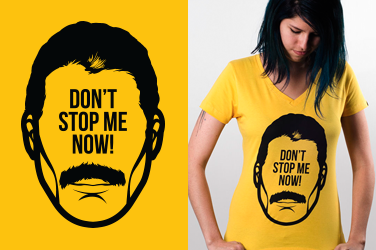 Camiseta Queen - Don't stop me - Gola V