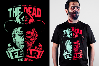 Camiseta The Walking Dead - Fear the Living