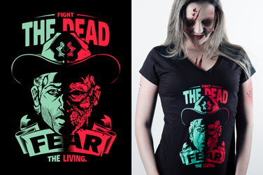 Camiseta The Walking Dead - Fear the Living - Gola V