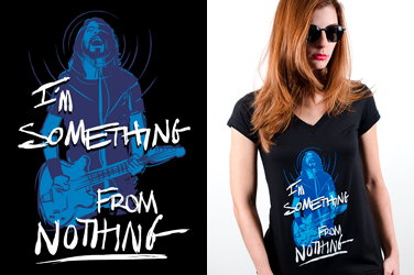 Camiseta  Foo Fighters - Something - Gola V