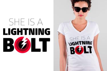 Camiseta Pearl Jam - Lightning  - Gola V