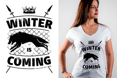 Camiseta Game of Thrones - Winter is Coming - Gola V